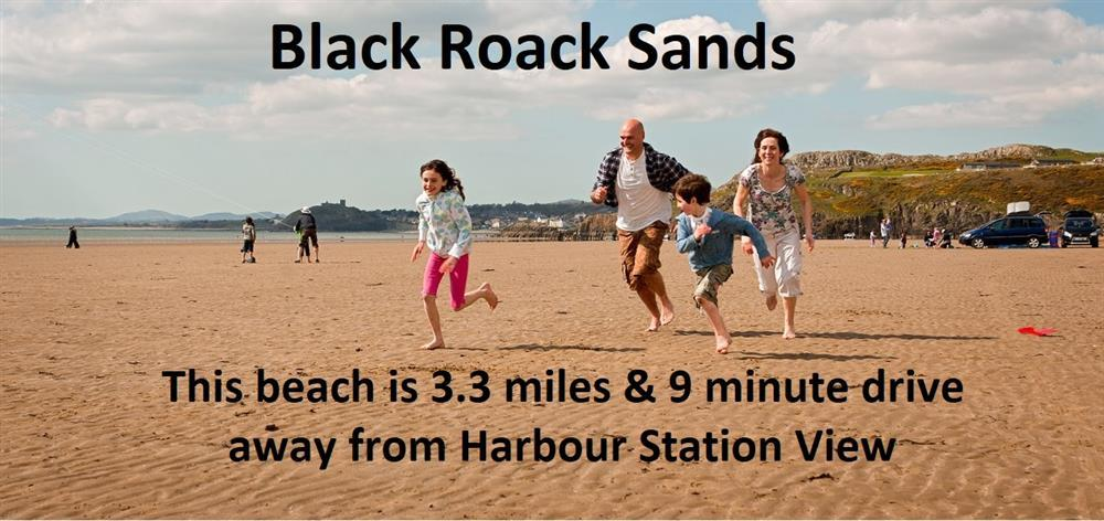 You can either walk to Black Rock Sands by going through Borth y Gest village or drive there in 9 minutes and park your car right on the sand