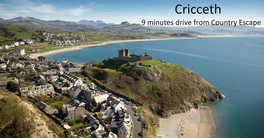 Criccirth Castle and Beach is 4.3 miles away from Country Escape. Just 9 minutes drive away!