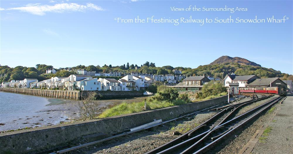 Photo from the 'Cob' of South Snowdon Wharf (where Estuary Flat is) and the Steam Railway Station (right handside of the photo).