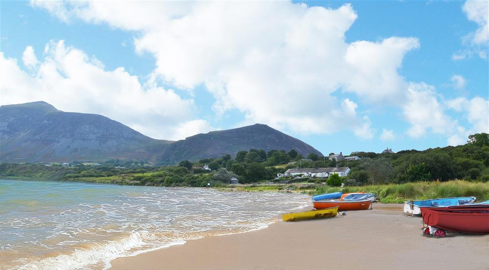 The stunning nearby beach and mountains