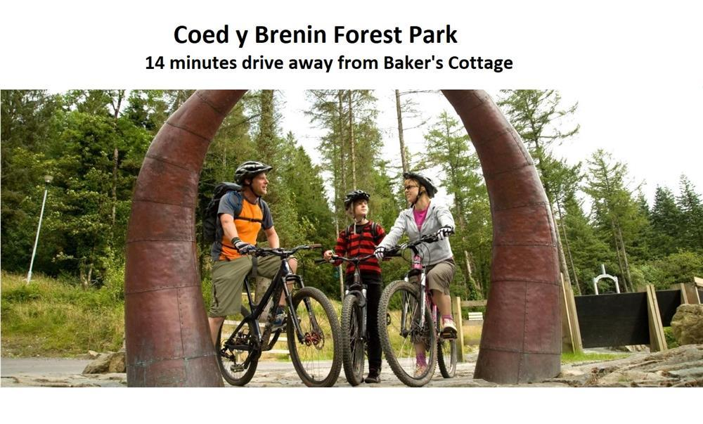 This forest is 9.2 miles away from Baker's Cottage. There is a cafe and world-class mountain bike trails, family walks and running trails for all tastes and fitness levels