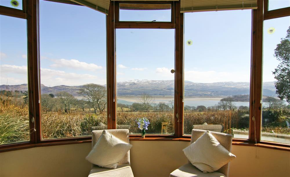 The stunning view from the conservatory