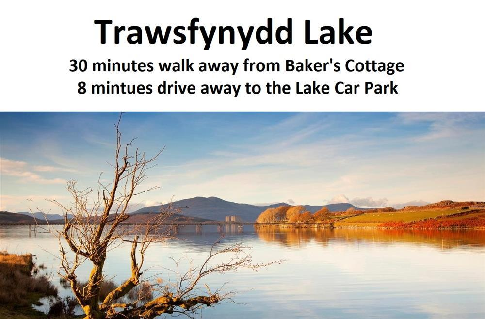 This lake is 1.5 miles away from Baker's Cottage. The lake car park is 4.7 miles away from Baker's Cottage.