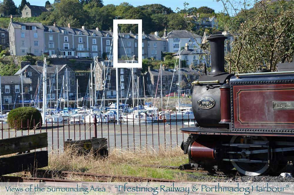 Photo of Harbour Lookout fromPorthmadog Steam Railway Station.
