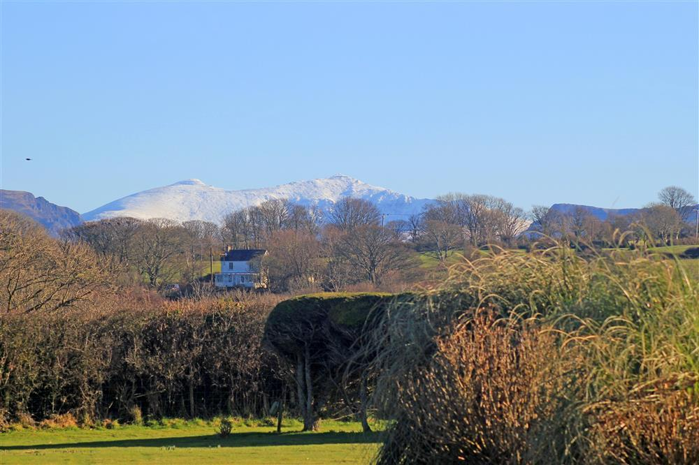 From the front garden you can see Snowdon. Garden Chalet is 12 miles away from the start of Rhyd Ddu path up Snowdon.