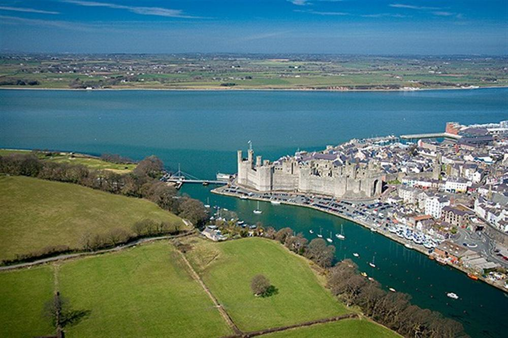 Nearby Caernarfon from the air