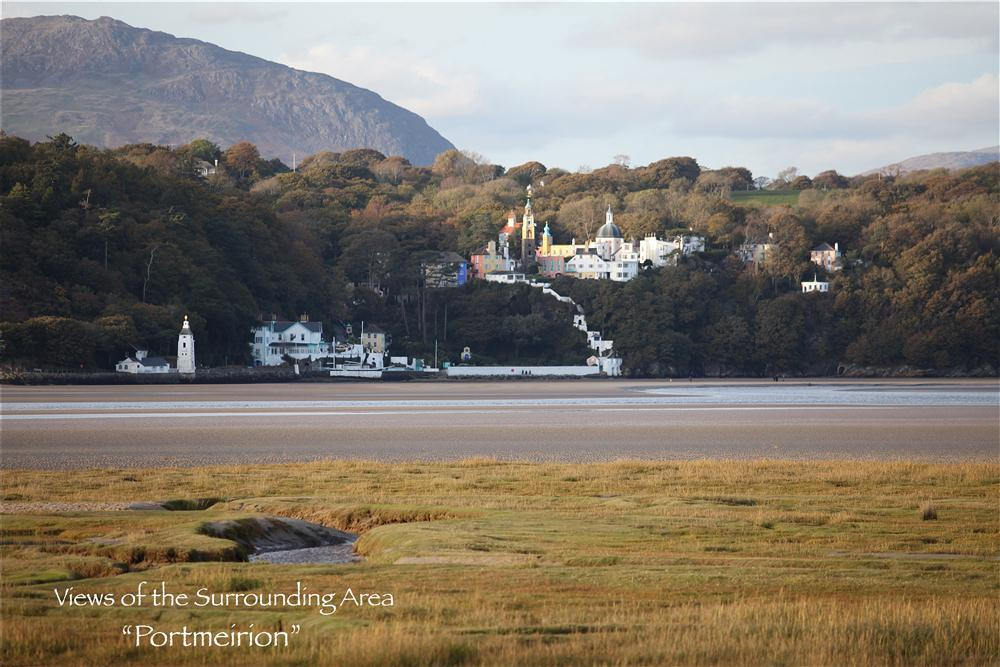 Portmeirion village is just a 20 minute drive away