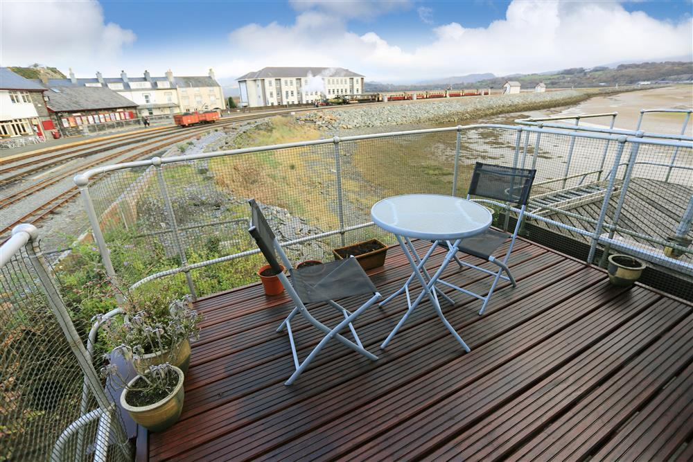 Balcony also overlooks the estuary and the cob - the starting point of the Ffestiniog Railway