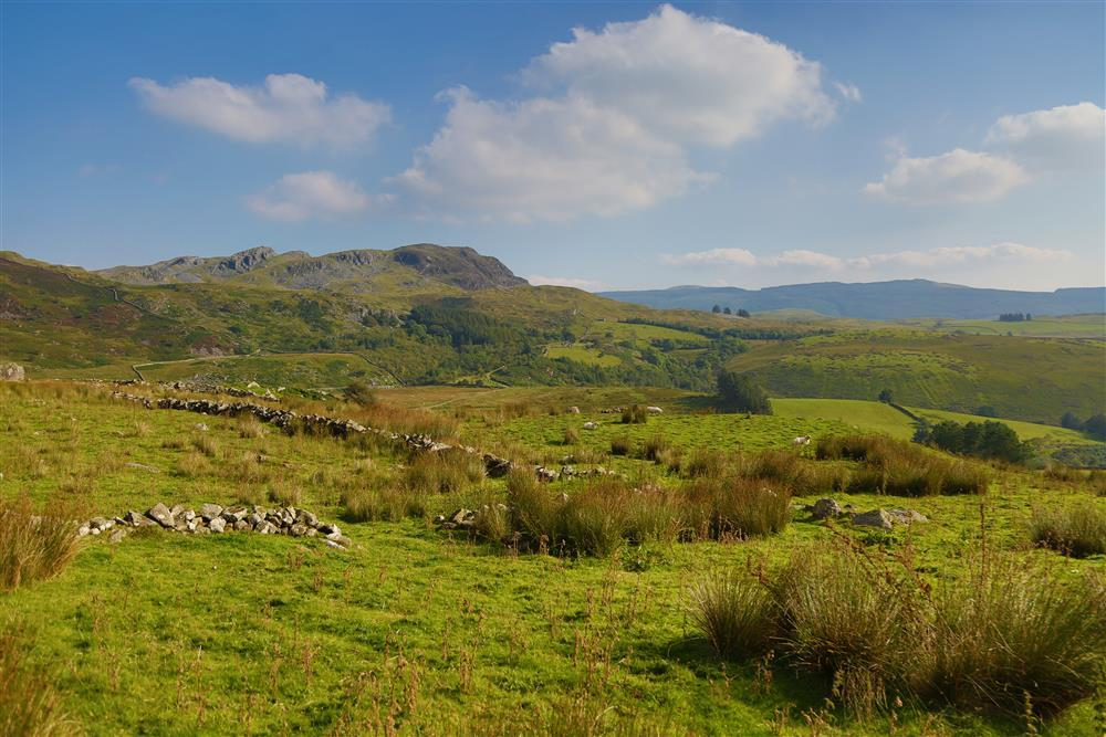 Shepher's Bothy is situated in stunning countryside with brooks and mountains all around