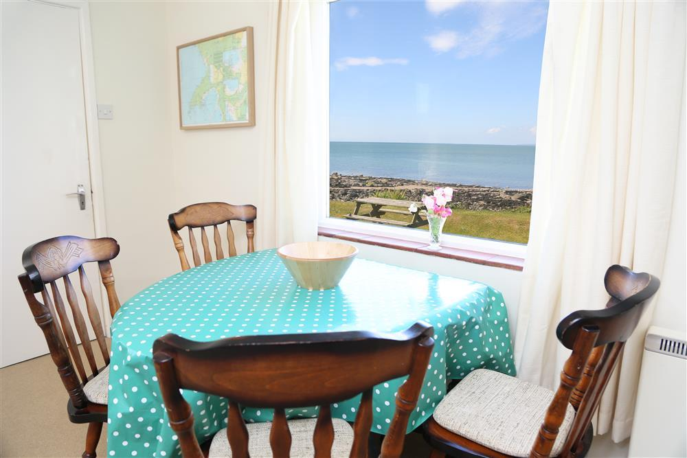 Dining table with views out to sea