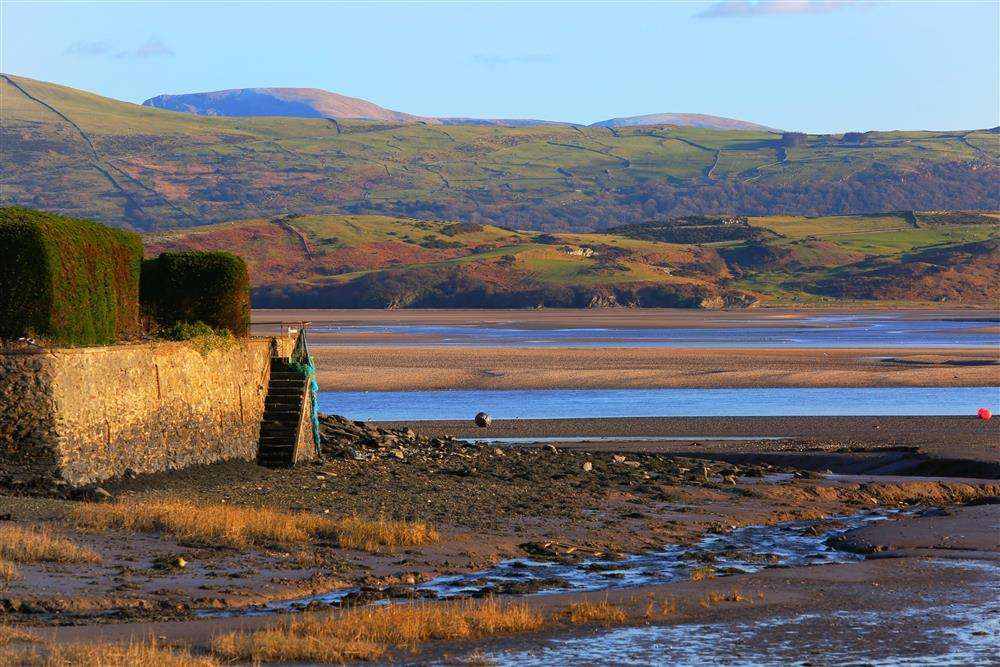 Views from the bay in Borth y Gest