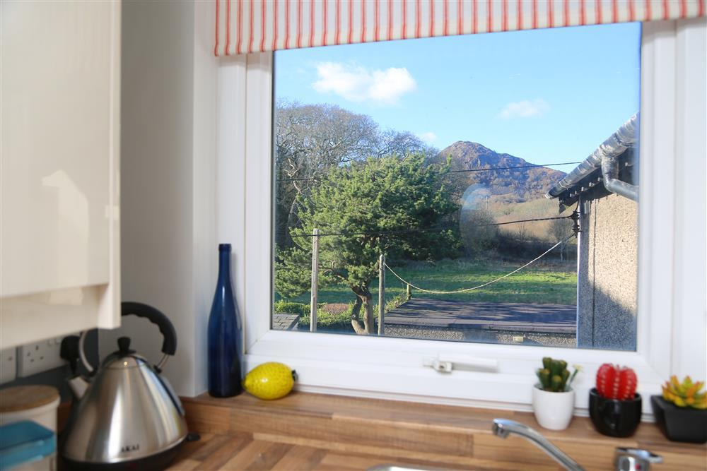Views to Moel y Gest from the kitchen
