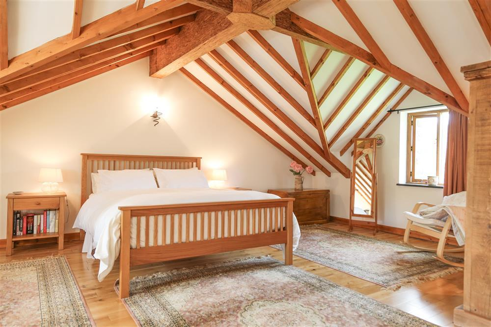 The stunning Kingsize bedroom with exposed beams