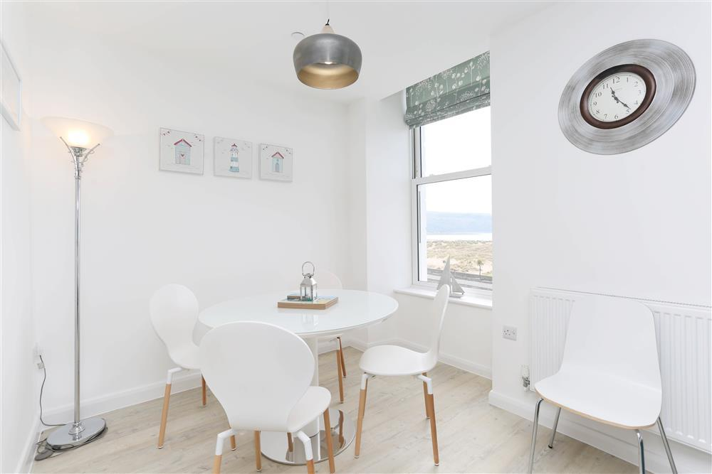 Dining area with sea views