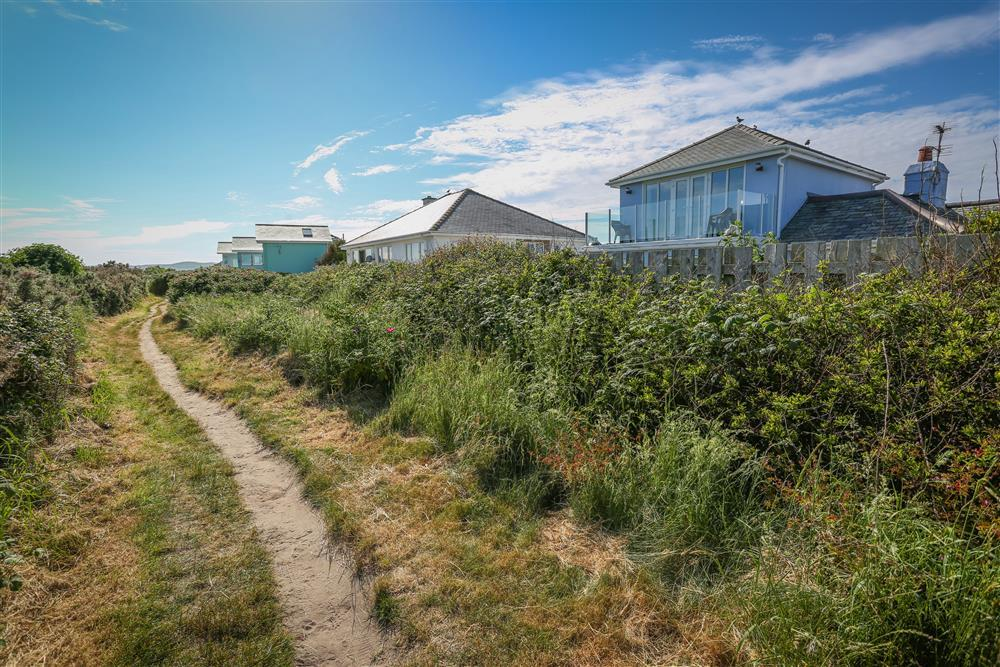 Go for a walk along the Welsh Coastal Path - right outside the back of the house!