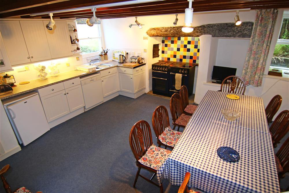 Farmhouse kitchen and dining area