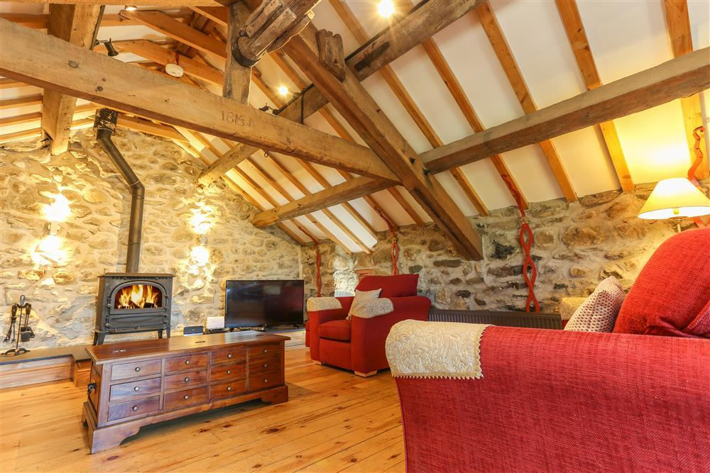 The beautiful lounge with exposed beams
