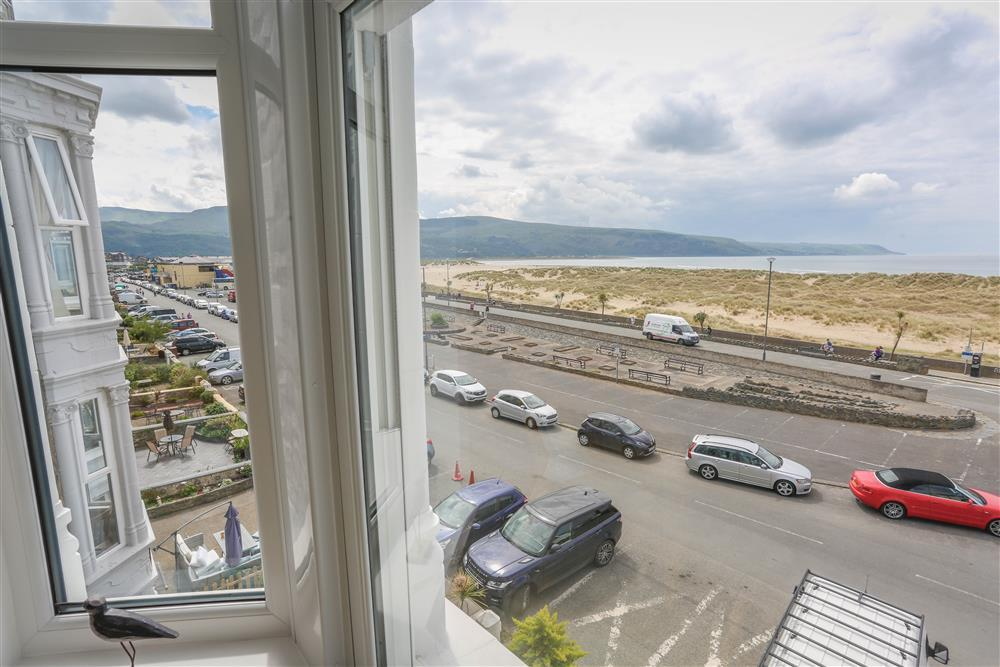 From the bay windows, you can look out over Barmouth beach and the Cambrian coastline