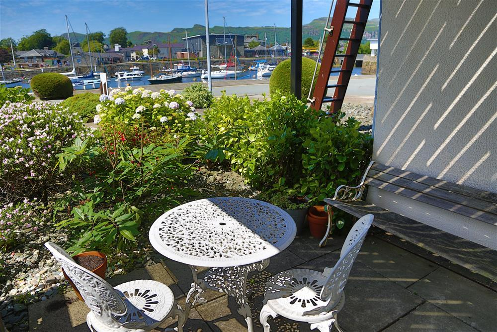 Patio area overlooking the harbour