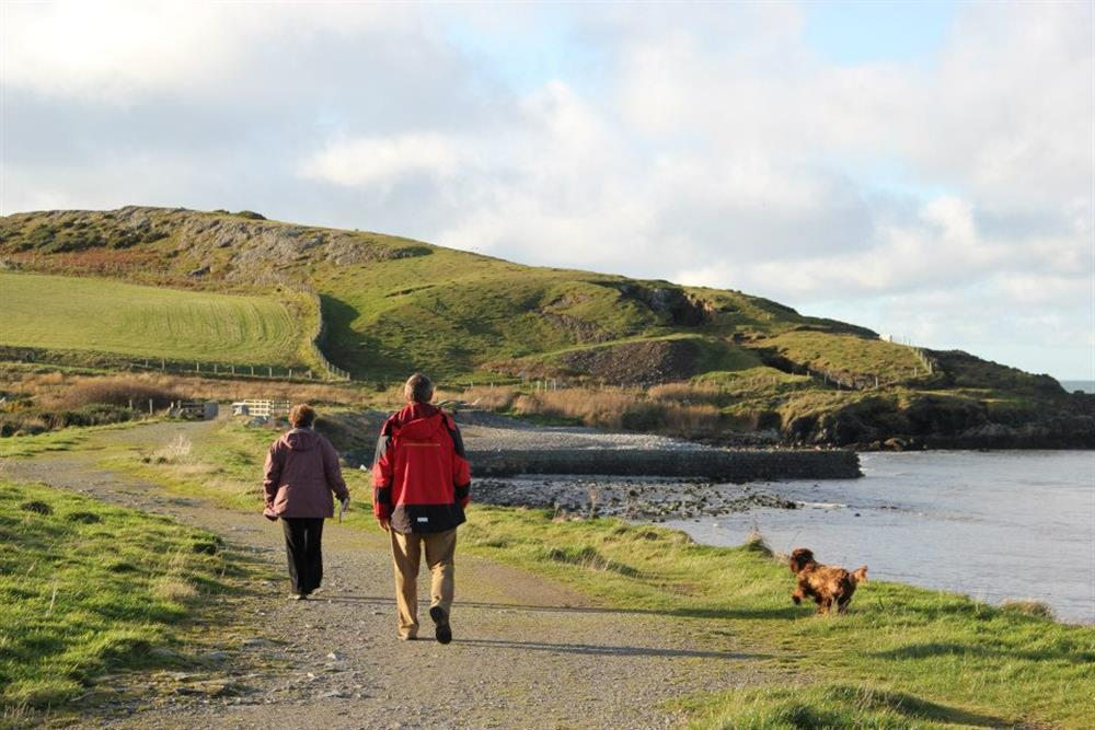 The costal footpath is owned by the National Trust. The footpath takes you up high on the cliff tops above the sea, excellent for bird watchers.