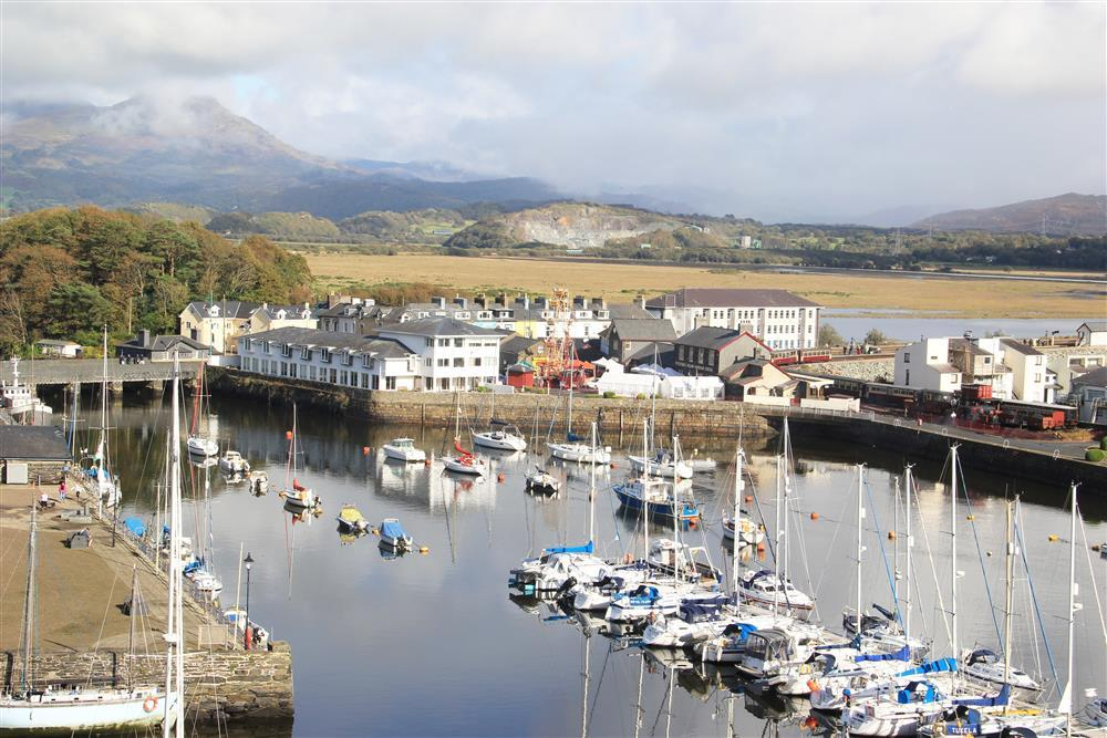 Close up photo of the Steam Railway Station and Porthmadog Harbour