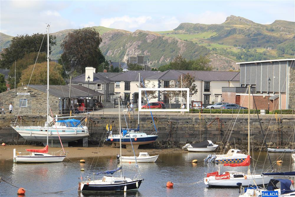 Photo of Whistle Stop from the other side of Porthmadog Harbour