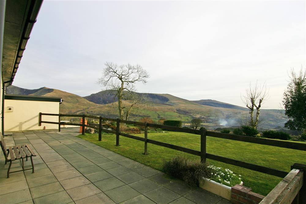 The views of the mountains from Pwyll Cottage doorway  - property ref: 2135A