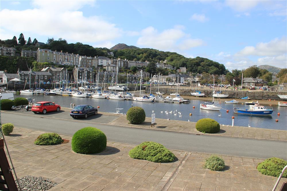 The view from the balcony of Porthmadog Harbour
