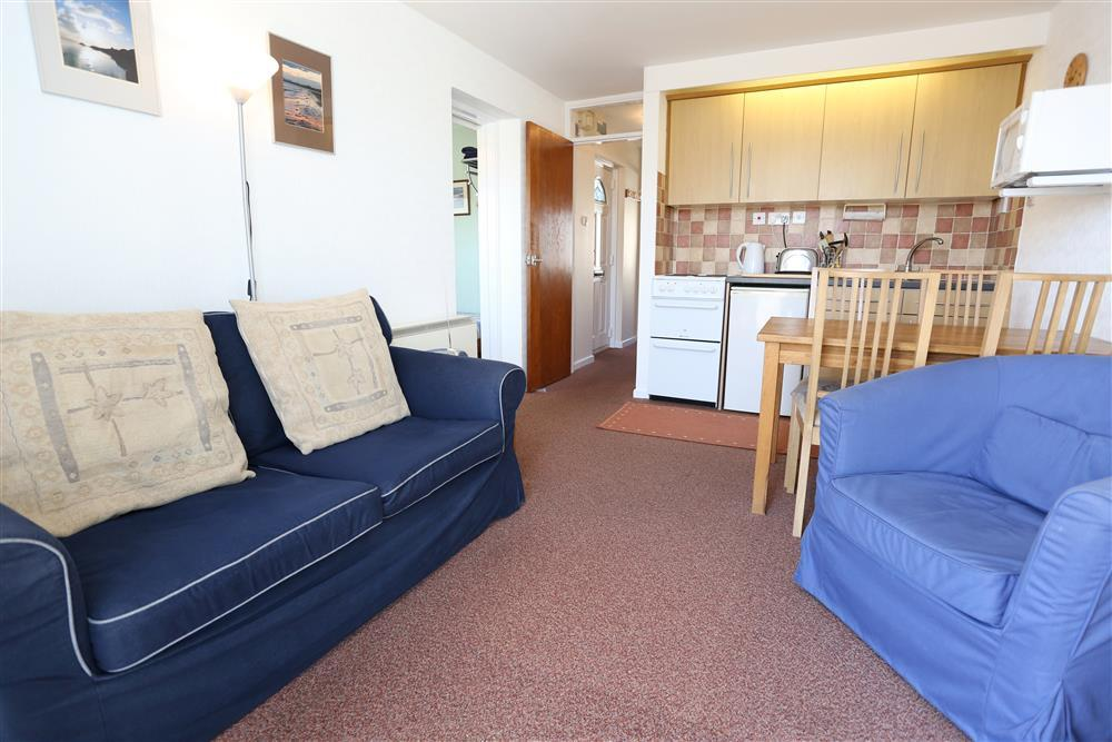 The lounge area looking towards the kitchen area