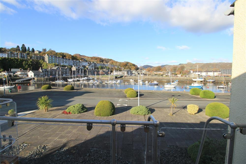 View from the balcony of Porthamdog Harbour