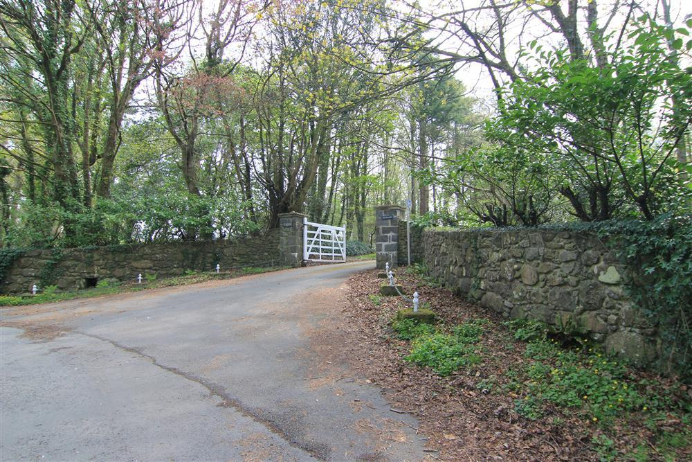 This is the entrance from the main road towards Min y Mor, other holiday cottages and Ty Newydd - the National Writing Centre of Wales.