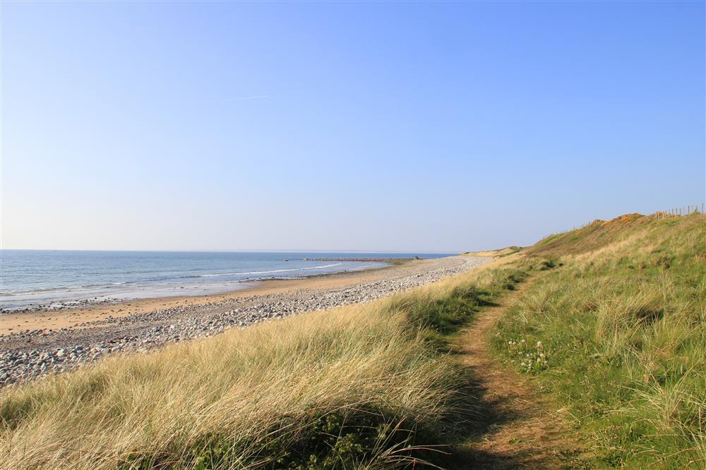 The coastal footpath at Aberdesach beach - This beach is only 7 minutes walk away (0.4 mile)  from Garden Chalet
