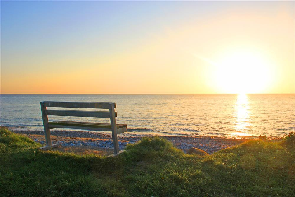 Sunset at Aberdesach beach - only 7 minutes walk away (0.4 mile)  from Garden Chalet