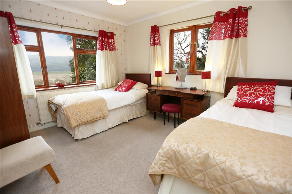 Bedroom 3 - two single beds. Gound Floor - same level as bedrooms 2, 4, bathroom, shower room and lounge.