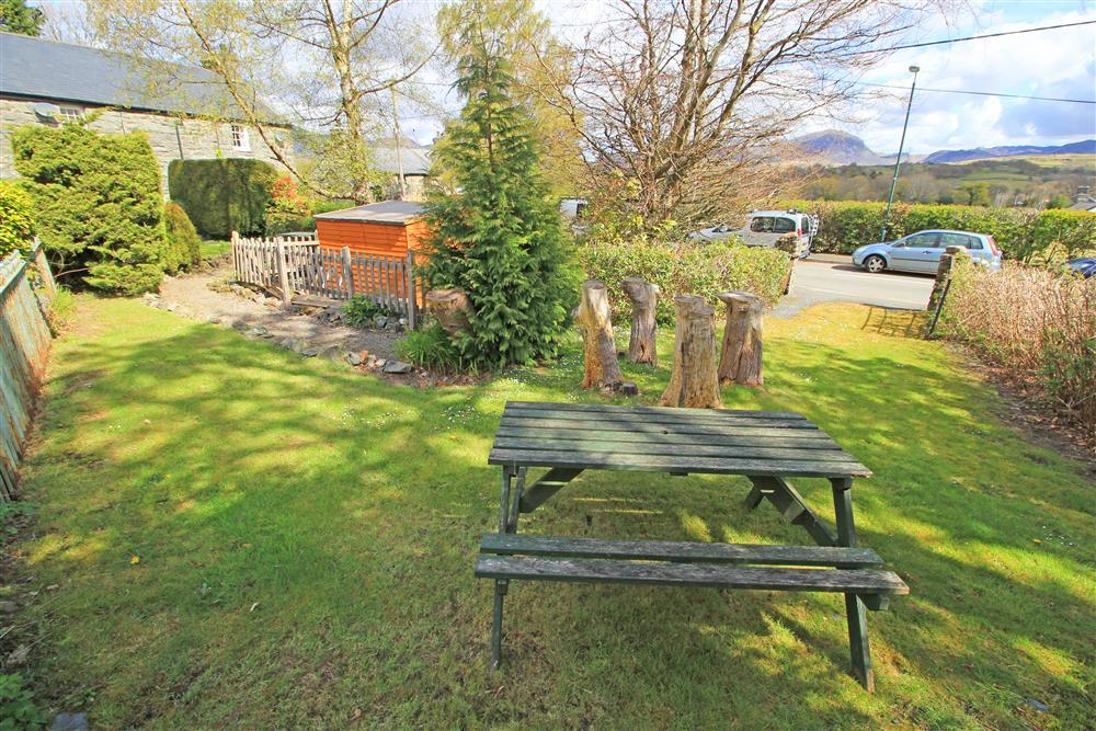Front Garden area, to the left is the house and the gap on the right is the car park space.