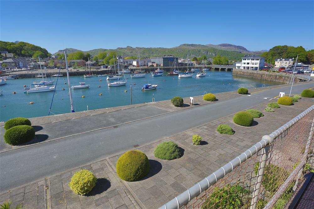Views over the harbour and towards the Snowdonia mountains