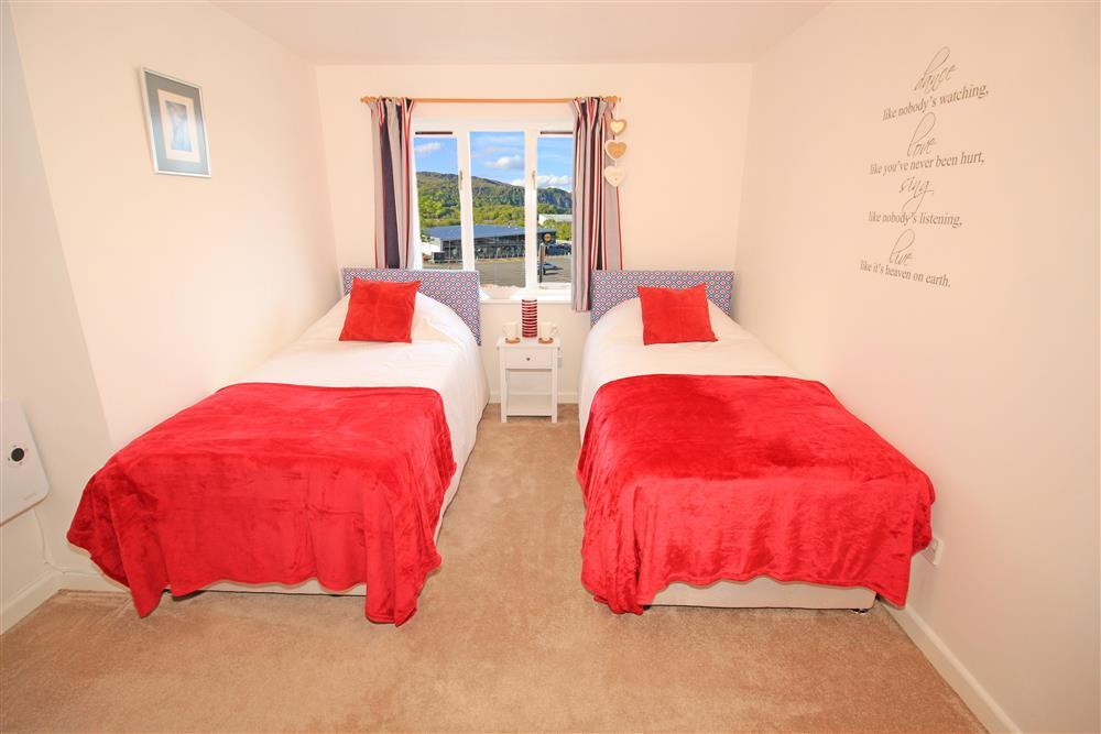 Bedroom 2 - two single beds. This bedroom has mountain views (1st Floor)
