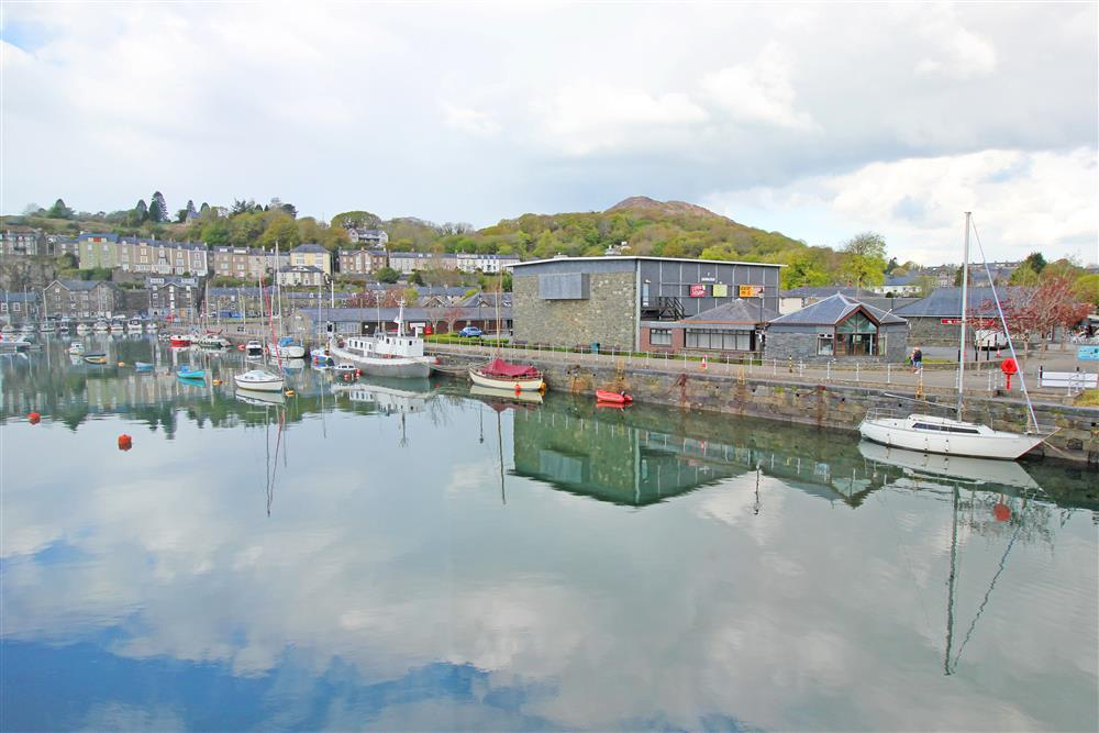 The view of Porthmadog Harbour from Bedroom 1