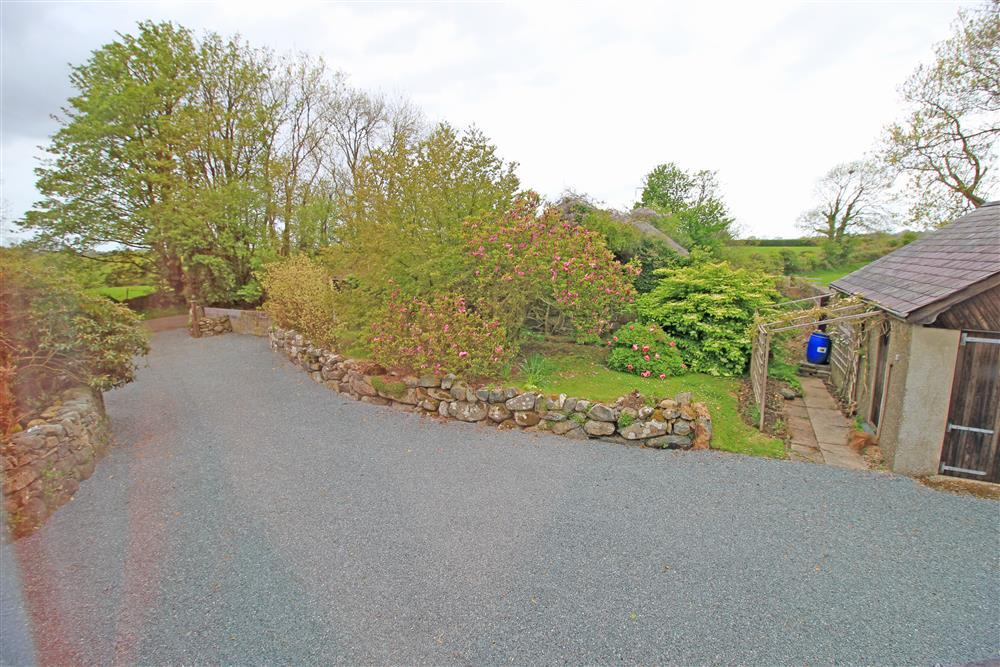 This is the long driveway and parking area (view from Bedroom 5)