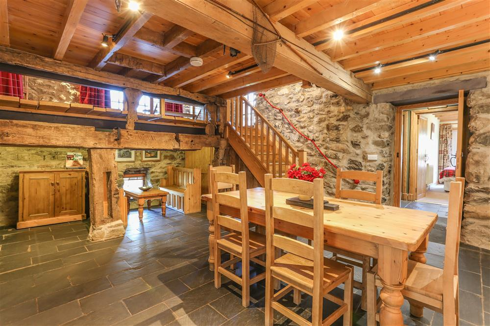 Dining hall with feature beams