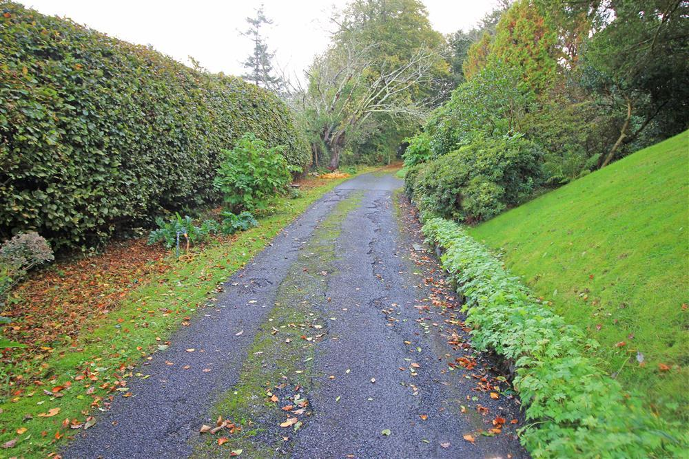 The driveway to Orchard Cottage