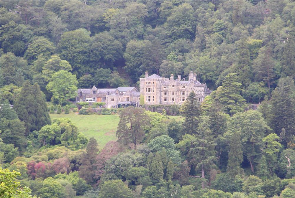 Plas Tan y Bwlch can been seen far in the distance from the back garden. Plas Tan y Bwlch was the stately home of the Oakeley family.