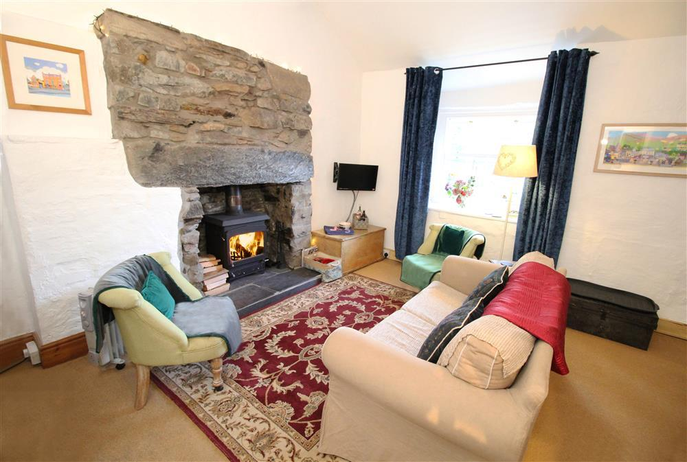 Living Room: Lounge area with log burner