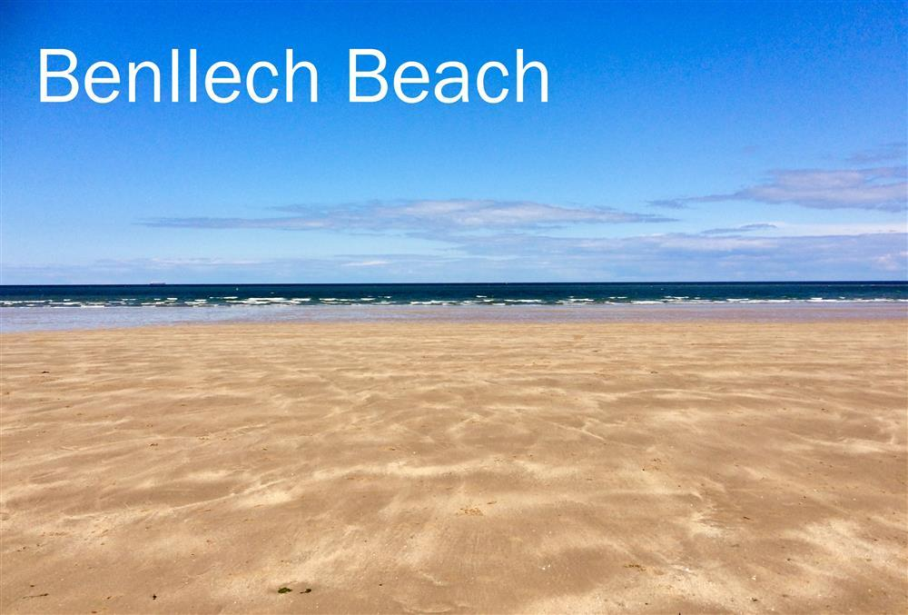 It is a short walk down the hill from Seaside Bungalow to Benllech Beach