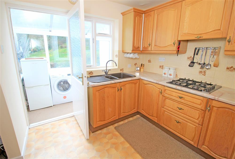 Kitchen area looking at the Utility Room and Garden (Ground Floor)