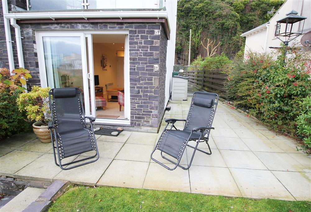 Oakley Views Patio Area - These outside chairs are kept inside of the apartment