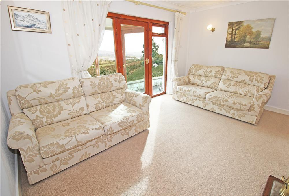 Lounge on the ground floor - same level as bedrooms 2, 3, 4, bathroom & shower room.