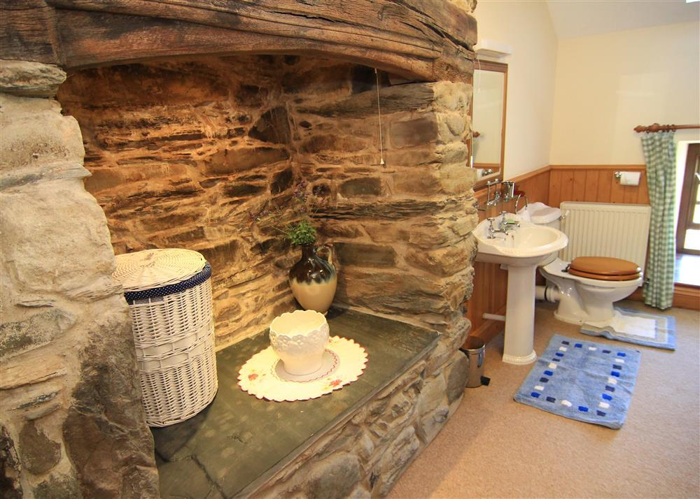 Inglenook feature in the bathroom
