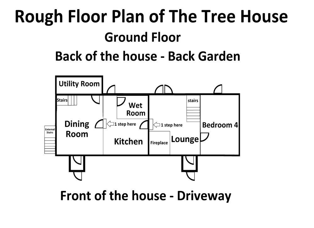 This is just a rough floor plan to help understand where all the rooms are in this big house.