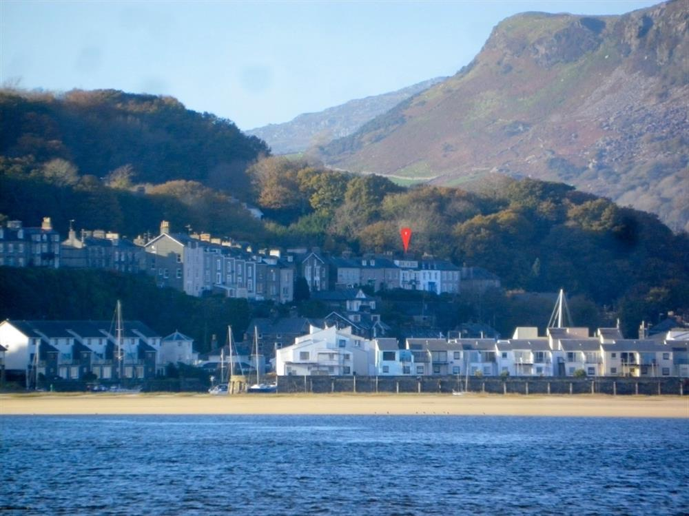 The Bridge stands above the harbour town of Porthmadog
